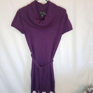 Sweater Project cowl neck purple dress med